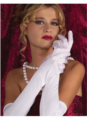 Белые перчатки выше локтя