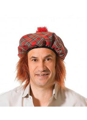 Берет шотландца с волосами