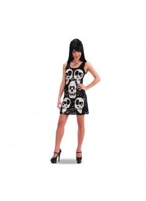 Блестящее платье с черепами