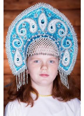 Бирюзовая корона кокошник