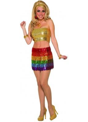 Блестящая юбка из семидесятых