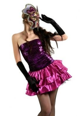 Блестящее фиолетовое платье фото