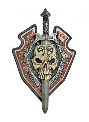 Боевой меч и щит с черепом