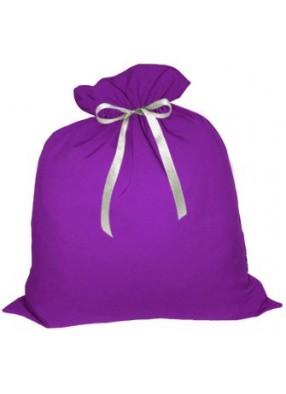 Большой подарочный мешок Деда Мороза фиолетовый