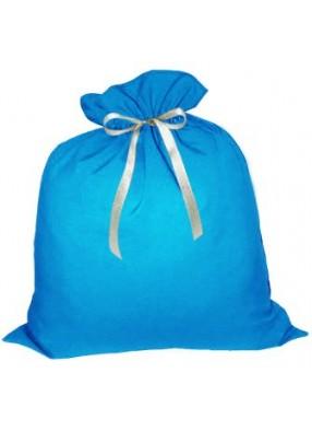 Большой подарочный мешок Деда Мороза голубой