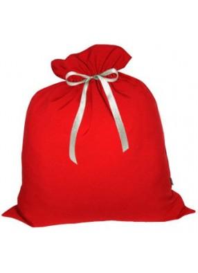 Большой подарочный мешок Деда Мороза красный