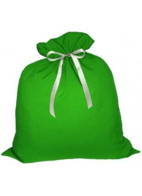 Большой подарочный мешок Деда Мороза зеленый