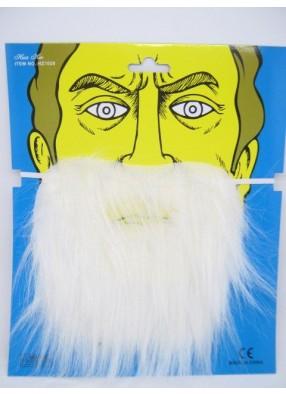 Борода белая на резинке