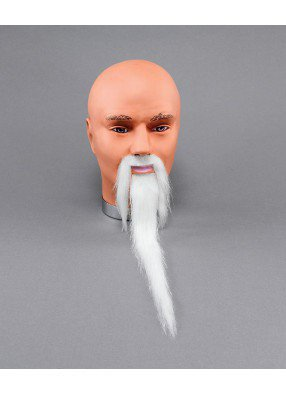 Борода узкая с усами