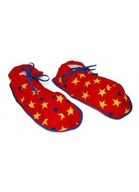 Ботинки клоуна со звездами