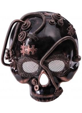 Бронзовая маска скелета в стиле Стимпанк
