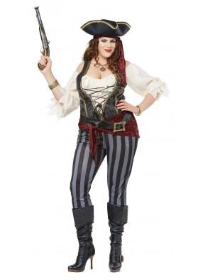 Брючный костюм пиратки большого размера