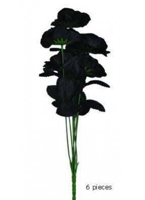 Букет из черных роз на Хэллоуин