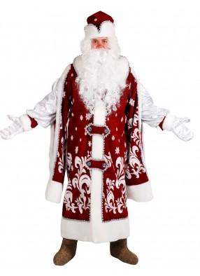 Царский костюм Деда Мороза для взрослого