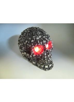 Череп со скелетами светящиеся глаза
