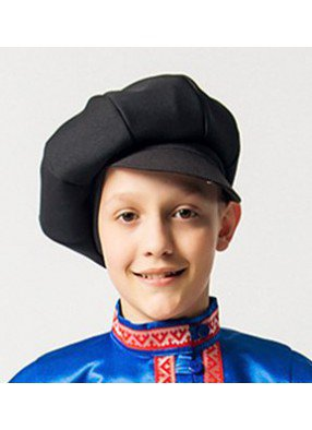 Черная детская кепка из габардина