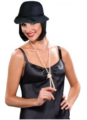Черная шляпка в стиле 20-х