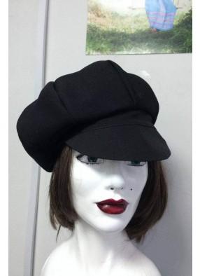 Черная взрослая кепка из габардина фото