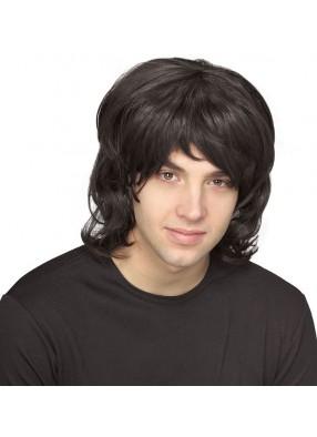 Черный мужской парик 70-х