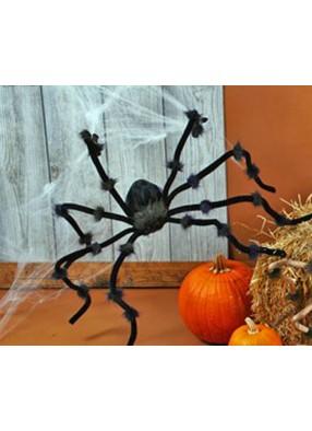 Черный плюшевый паук 50 см