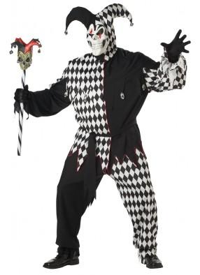 Черно-белый костюм дьявольского шута