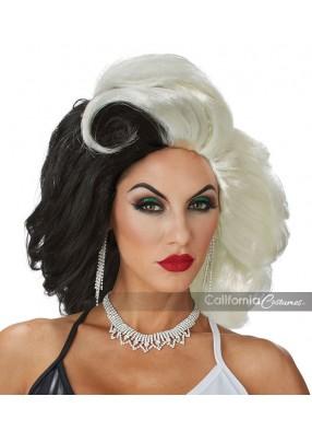 Черно-белый парик гангстерши