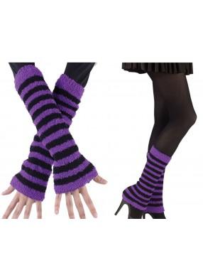 Черно-фиолетовые гетры фото