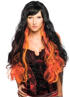 Черно-оранжевый парик Ведьма
