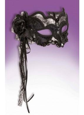 Черно-серебряная венецианская маска