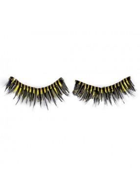 Черно-желтые ресницы