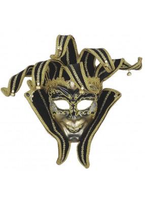 Черно-золотая маска шута