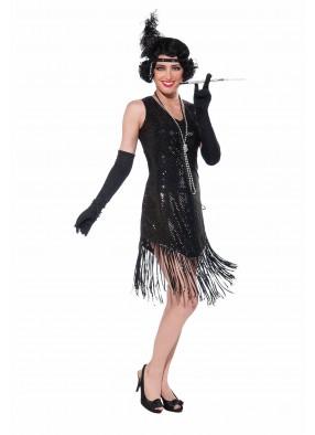 Черное платье девушки из джаза