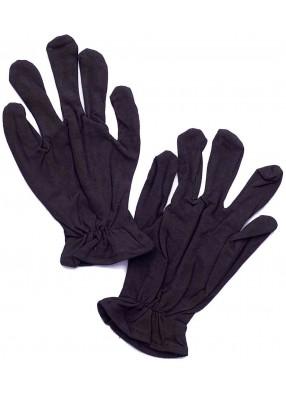 Черные короткие перчатки с резинкой