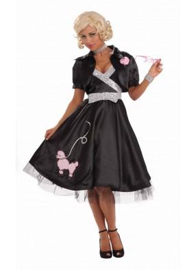 Черный костюм дамы 50-х годов