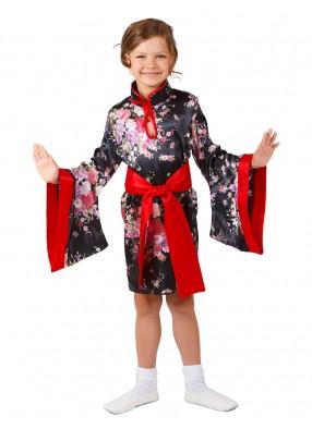 Черный костюм китаянки для девочки