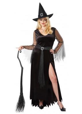 Черный костюм ведьмы большого размера