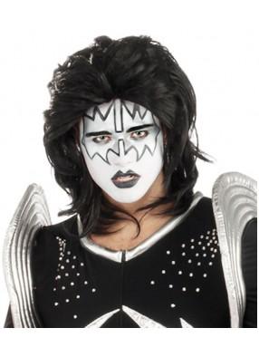 Черный парик Kiss