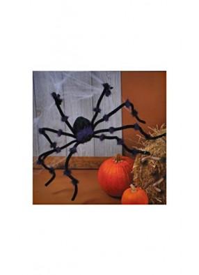 Чёрный плюшевый паук 120 см
