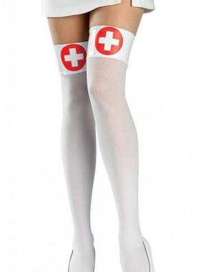 Чулки медсестры белые