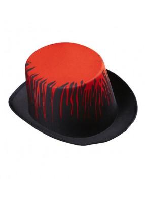 Цилиндр черный кровавый 1 фото