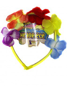 Цветочный гавайский ободок