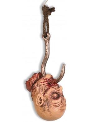 Декорация на Хэллоуин Голова на крюке