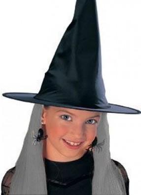 Детская шляпа ведьмы с серыми волосами