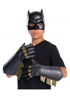 Детские черные перчатки Бэтмена