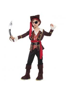 Детский блестящий костюм пирата