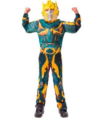 Детский костюм Бамблби с мускулатурой