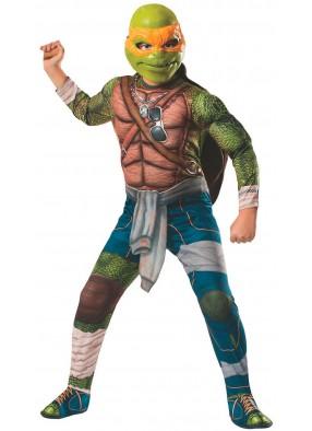 Детский костюм черепашки Микеланджело deluxe