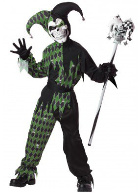 Детский костюм дьявольского шута-убийцы