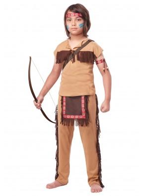 Детский костюм храброго индейца фото