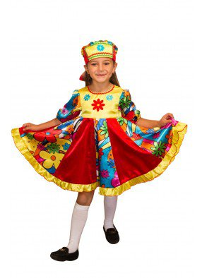 Детский костюм кадриль для девочки